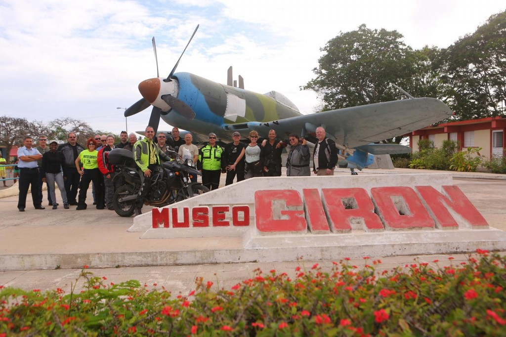 CU SX2A5368 MotoDiscovery group at Bay of Pigs Museum, Cuba copyright Christopher P Baker