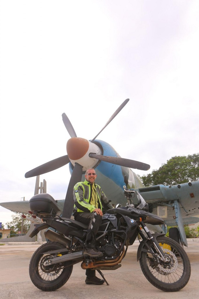 CU SX2A5377 Christopher P Baker on a BMW F800 at Museo Playa Giron copyright Christopher P Baker