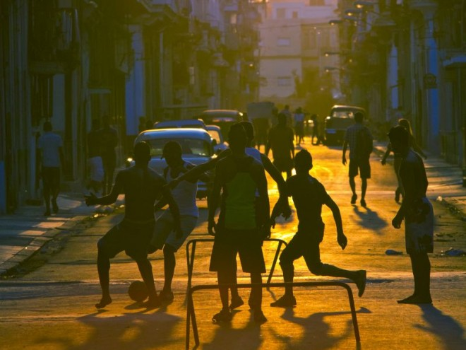Playing on the streets of Cuba