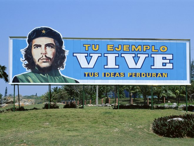 Ernesto Che Guevara in the Revolution. Memorial in Santa Clara