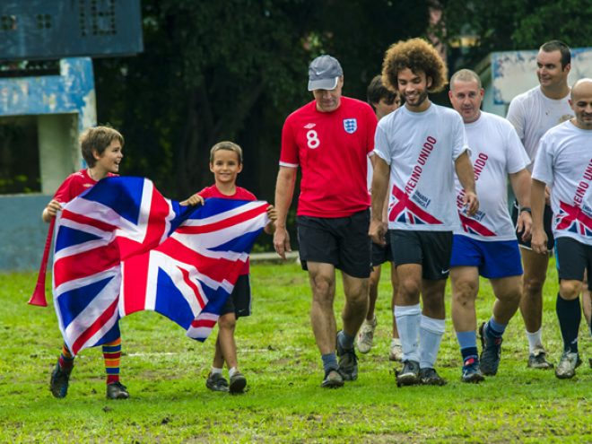 England vs Cuba invitational football match