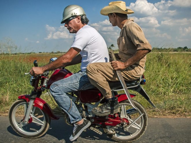 Driving through Cuba's provincial heart  with hitchhikers