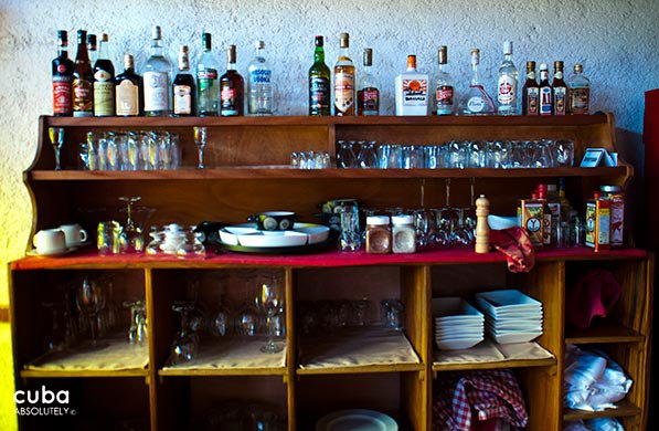 cupboard at restaurant Vistamar in Miramar© Cuba Absolutely, 2014