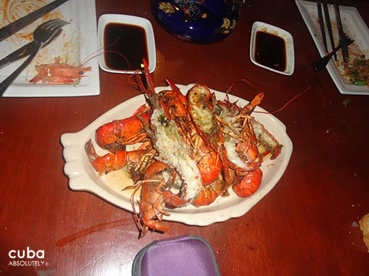 Dish of lobsters © Cuba Absolutely, 2014