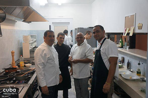 Group of chefs in a kitchen © Cuba Absolutely, 2014