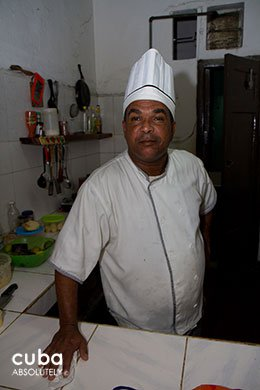 chef in a restaurants with his hat on © Cuba Absolutely, 2014