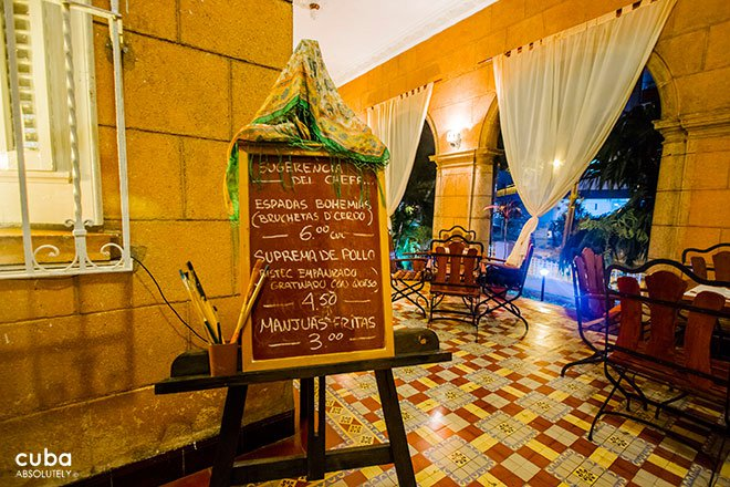 menu at Bohemio bar in Vedado © Cuba Absolutely, 2014