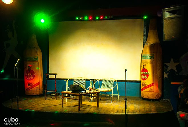 stage at Club Las Vegas in center havana© Cuba Absolutely, 2014
