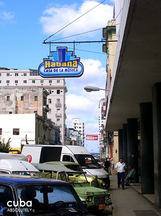 sign of house of music in old havana © Cuba Absolutely, 2014
