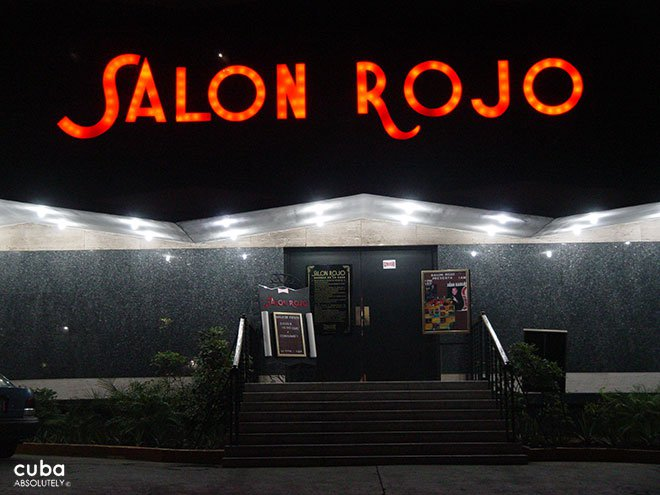 sign of salon rojo night club © Cuba Absolutely, 2014