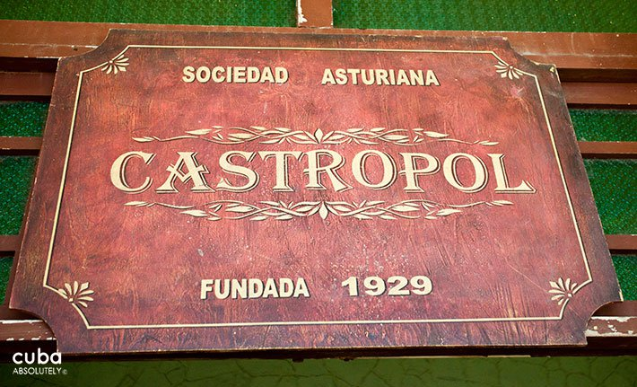 sign of Castropol restaurant in old havana © Cuba Absolutely, 2014