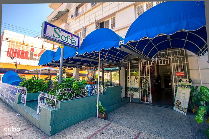 Cafe Sofia entrance in Vedado© Cuba Absolutely, 2014