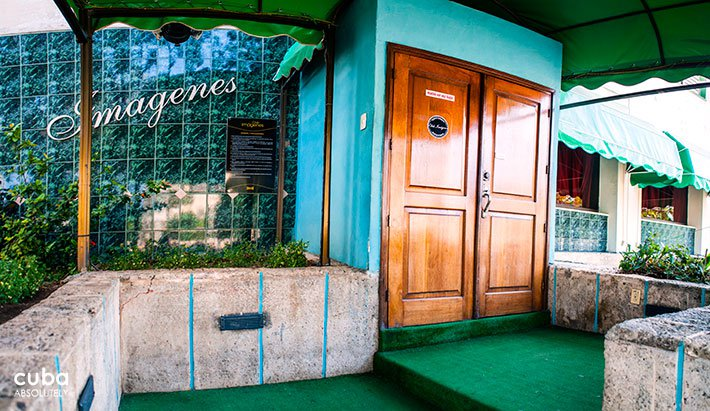 Club Imagenes entrance in Vedado© Cuba Absolutely, 2014