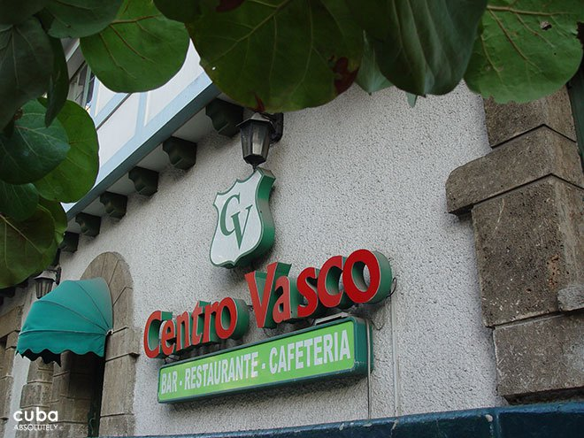 sign of Centro Vasco club in Vedado© Cuba Absolutely, 2014
