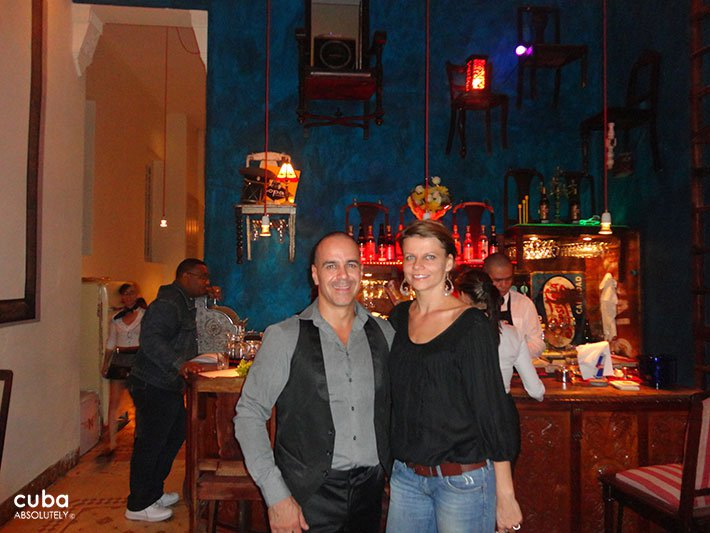 woman and man at Casa Miglis restaurant in old havana© Cuba Absolutely, 2014