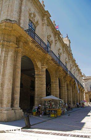 old building located in Arms Square in old havana© Cuba Absolutely, 2014