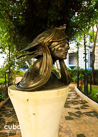 statue detail at Diana de Gales garden in old havana© Cuba Absolutely, 2014