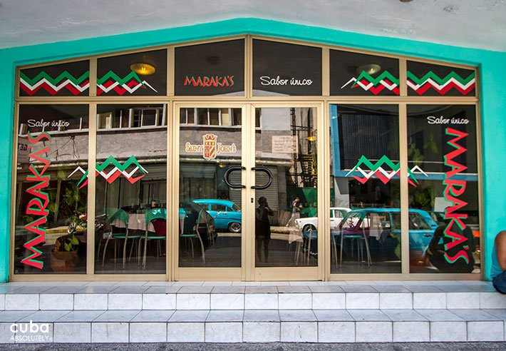 Maraka restaurant in Vedado, entrance © Cuba Absolutely, 2014