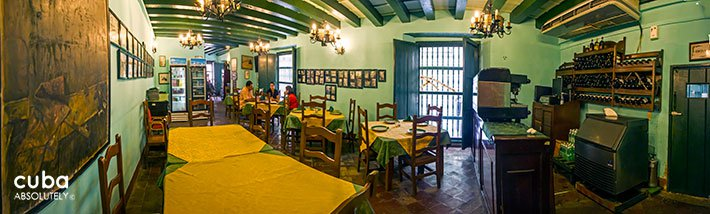 La paella restaurant in Hostal Valencia in Old Havana © Cuba Absolutely, 2014