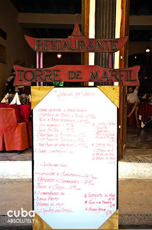 Torre de marfil restaurant in Old Havana © Cuba Absolutely, 2014