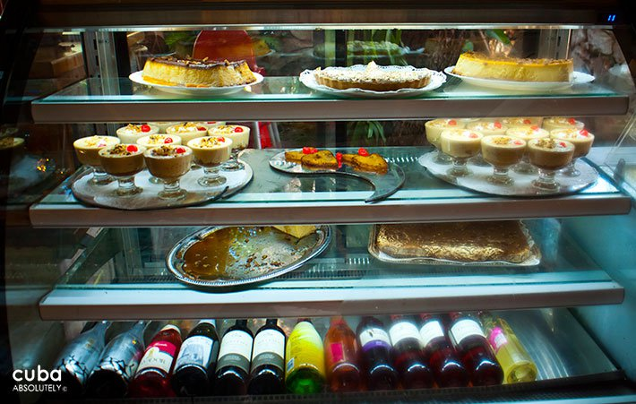 Desserts at Sancho Panza restaurant in Vedado © Cuba Absolutely, 2014