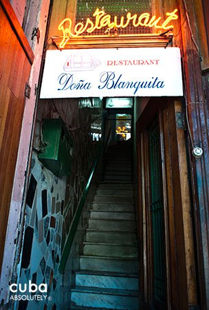 Doña Blanquita restaurant in Old Havana© Cuba Absolutely, 2014
