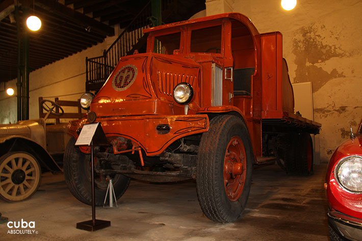Red truck at Olds cars museum in Old Havana © Cuba Absolutely, 2014
