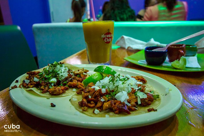 Tacos at La Pachanga restaurant in New Vedado © Cuba Absolutely, 2014