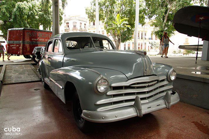 Old car at Revolution museum in Old Havana © Cuba Absolutely, 2014