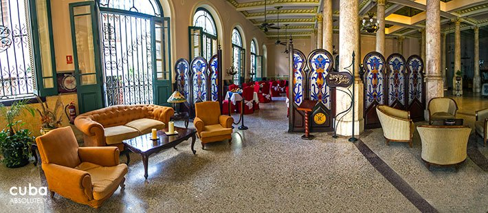 lobby at Raquel hotel in Old Havana © Cuba Absolutely, 2014