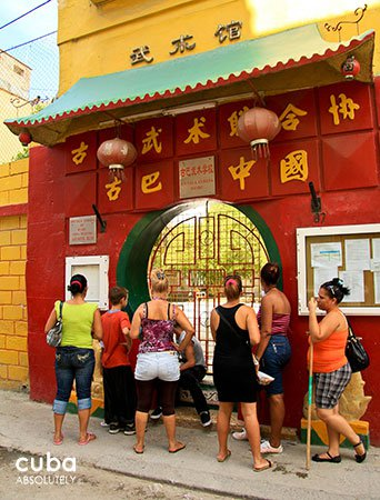 daily life in Chinatown, wushu school© Cuba Absolutely, 2014