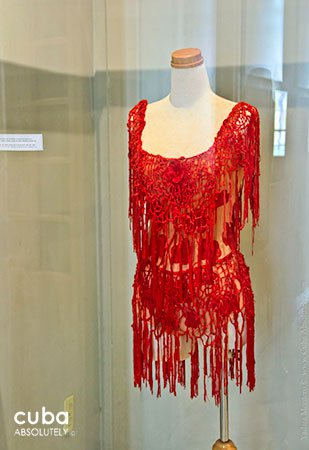 red suit of Carmen ballet at Dance museum in Vedado © Cuba Absolutely, 2014