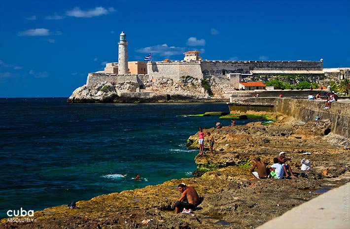 view of Morro castle from the seawall © Cuba Absolutely, 2014