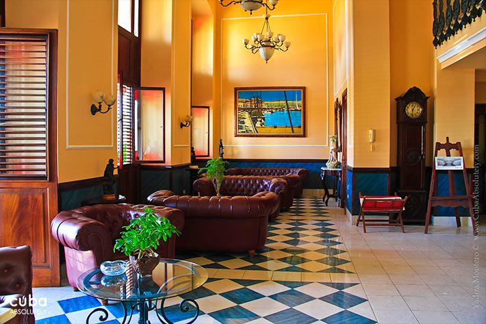 Armadores de Santander Hotel in Old Havana, yellow walls  © Cuba Absolutely, 2014 - 2020