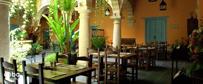 Marques del Prado Ameno hotel in Old Havana, restaurant © Cuba Absolutely, 2014 - 2020