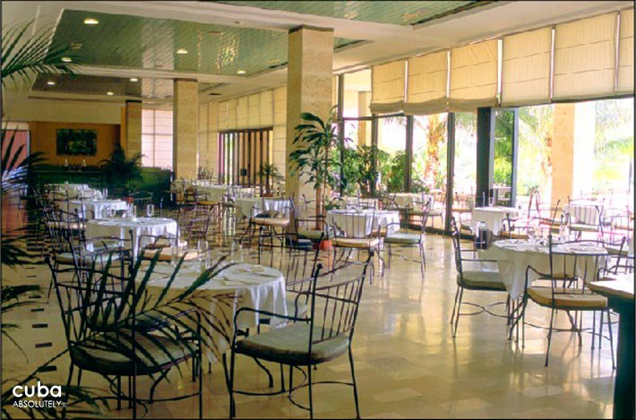 Occidental Miramar hotel, restaurant with iron furnitures  © Cuba Absolutely, 2014 - 2020