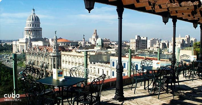 Parque Central hotel in Old Havana, terrace on the top © Cuba Absolutely, 2014 - 2020