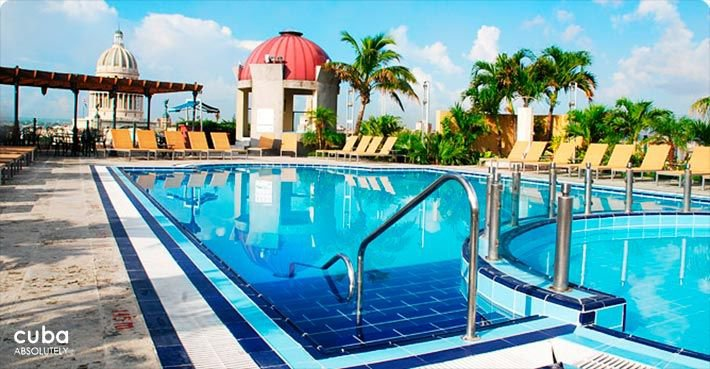 Parque Central hotel in Old Havana, pool © Cuba Absolutely, 2014 - 2020