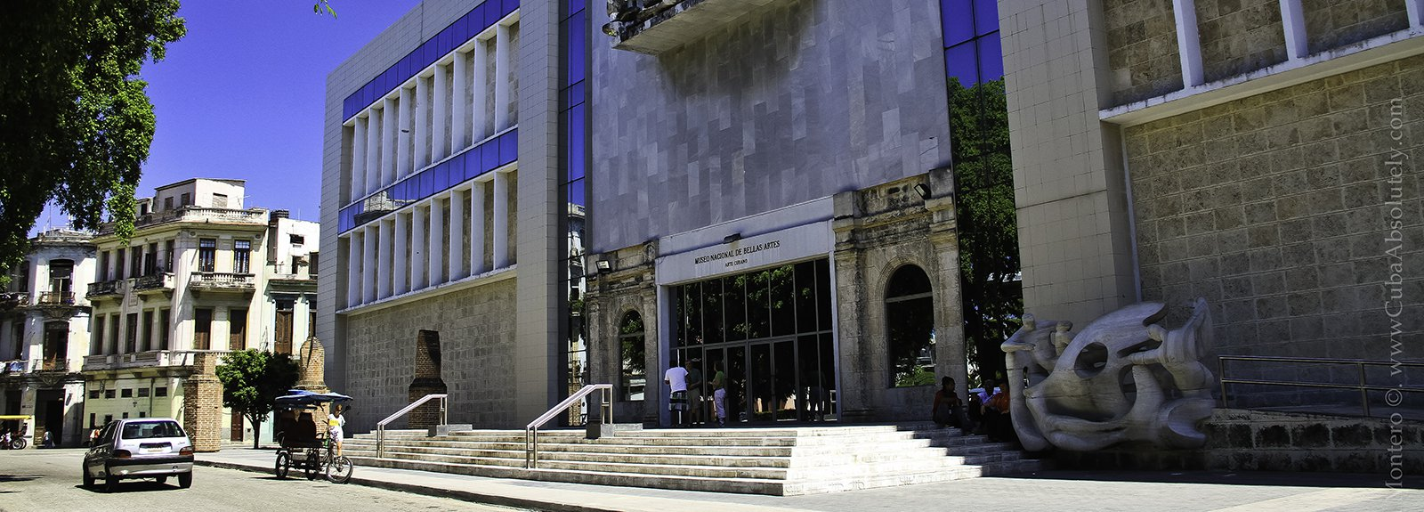 Entrance to the museum of cuban art
