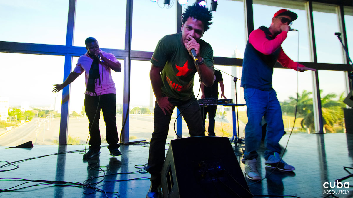 La Sesión is not only about rap--guests include the best DJs in Havana, singers and musicians from other genres, visual artists and actors from the stage. Havana, Cuba