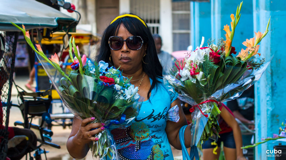 Offerings for Yemaya include melons, molasses and bouquets from her devotees. Havana, Cuba