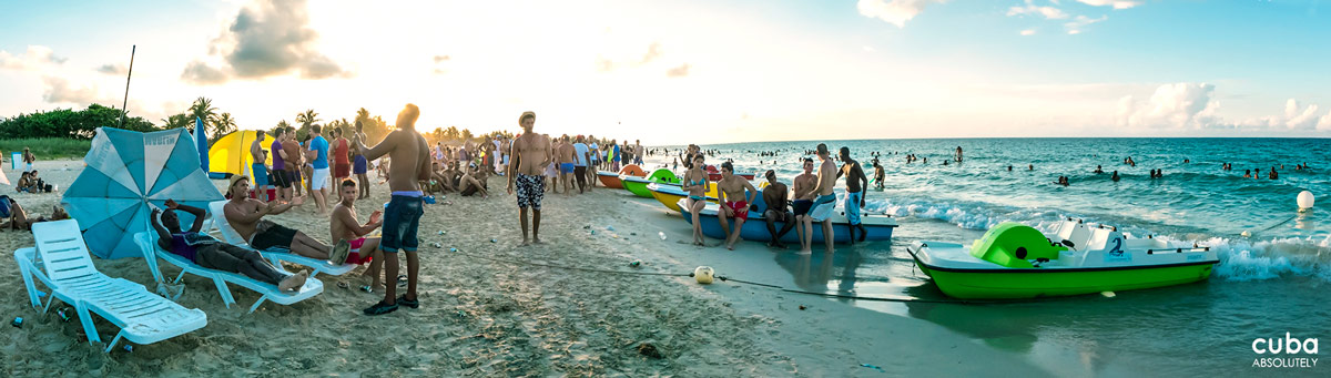 The first party was so successful among the students that since then it has become a monthly event held on one of the beaches on Havana's coast. Havana, Cuba