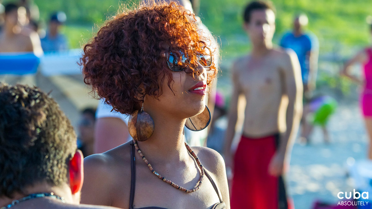 This is definitely not the expression you would expect from someone at a beach party. Havana, Cuba