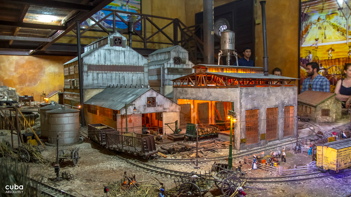 A close-up of the miniature sugar mill. Havana, Cuba
