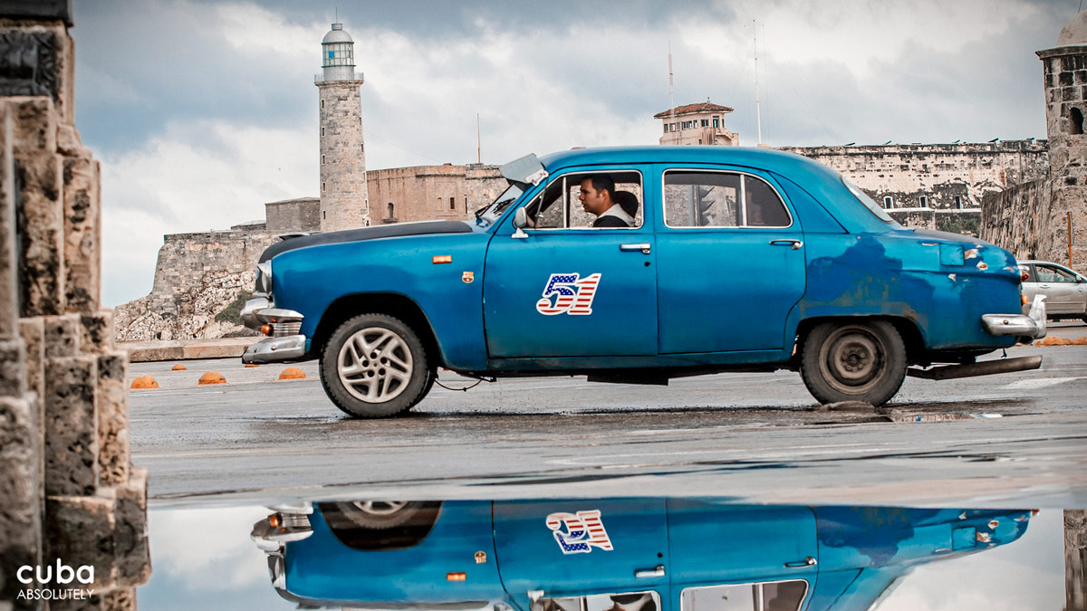 "When you see a vintage American car with a taxi sticker in the window, the first thing that comes to mind is probably not a tasty and nutrition nut. But for whatever reason, in Cuba those taxis are called ""máquinas,"" which means machines, or ""almendrones,"" which means almond. Havana, Cuba"