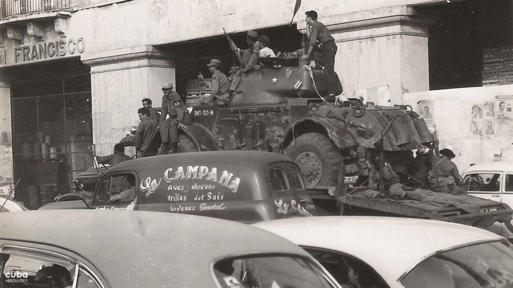 The rebel forces were armed with guns and tanks they had taken from Bastista's men themselves. Havana, Cuba