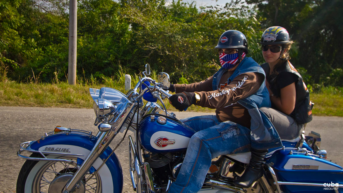 These bikers are closely connected to their global counterparts, including their US brothers, more than any other community in Cuba. Havana, Cuba