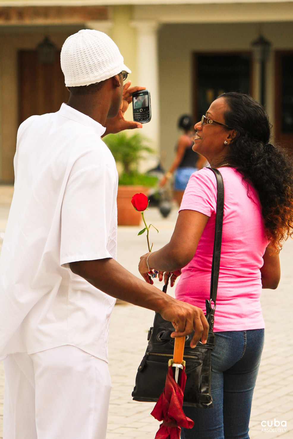 A selfie is always a good memento of Lover's Day. Havana, Cuba