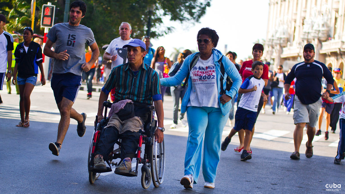 The Terry Fox Marathon of Hope has the greatest participation of any country in the world with up to 2.3 million people running, walking, rolling and pushing in an inspirational testament to the ideals and stamina of Terry Fox (1958-1981). Havana, Cuba