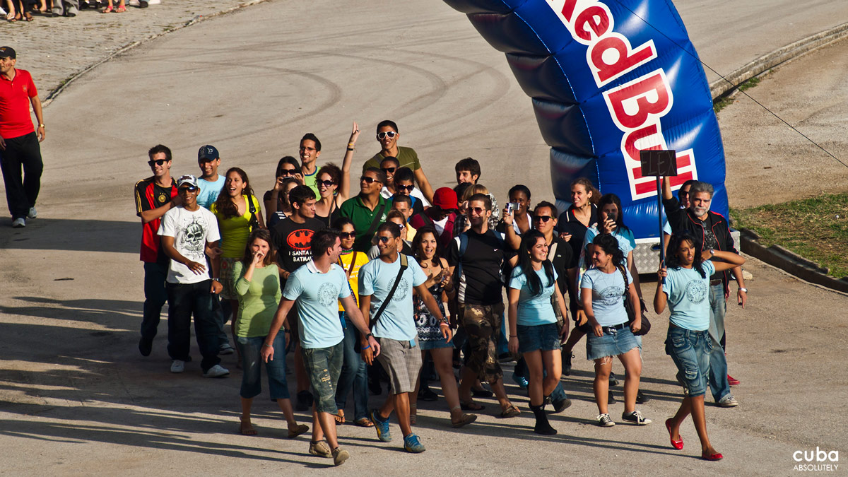 No, Red Bull is not sponsoring the event. Havana, Cuba